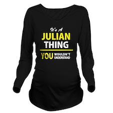 Unique Julian Long Sleeve Maternity T-Shirt