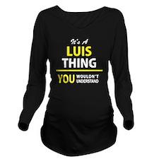 Unique Luis Long Sleeve Maternity T-Shirt