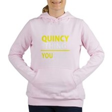Funny Quincy Women's Hooded Sweatshirt
