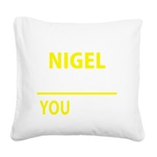 Cute Nigel Square Canvas Pillow