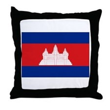 flag of Cambodia Throw Pillow