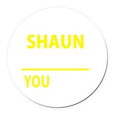 Cute Shaun Round Car Magnet