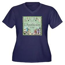 L'apothicairewomen's V-Neck Dark Plus Size T-Shirt