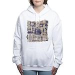 Vintage Sewing Toile Women's Hooded Sweatshirt