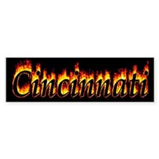 Cincinnati Flame Bumper Bumper Sticker