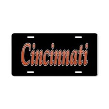 Cincinnati Sports Aluminum License Plate