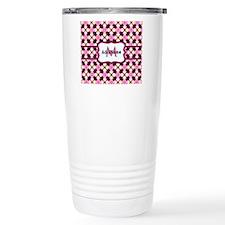Pink Black and Gold Pat Travel Coffee Mug