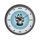 Puppy Pawprint Wall Clock