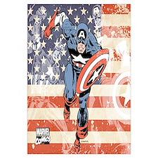 Patriotic Captain America Wall Art
