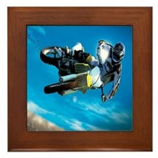 Motocross Side Trick Framed Tile