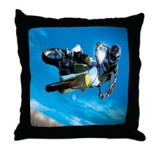 Motocross Side Trick Throw Pillow