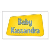 Baby Kassandra Rectangle Decal