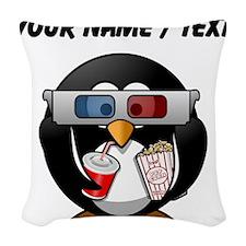 Custom Cinema Penguin Woven Throw Pillow