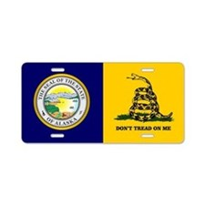 Alaska Seal-DTOM Aluminum License Plate