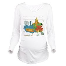 Hong Kong China Long Sleeve Maternity T-Shirt