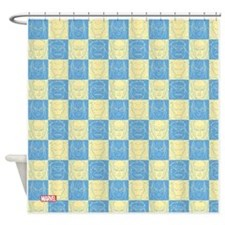Avengers Checkered Shower Curtain