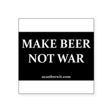 "Cute Beer making Square Sticker 3"" x 3"""