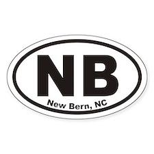 Nb New Bern, Nc Oval Decal