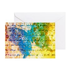 Colorful vintage butterfly Greeting Cards