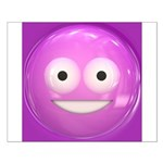 Candy Smiley - Pink Small Poster