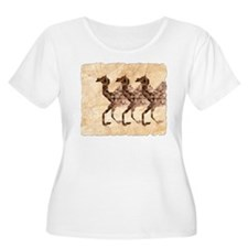 Three Camels Plus Size T-Shirt