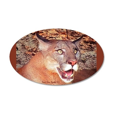 FL Panther 001 35x21 Oval Wall Decal