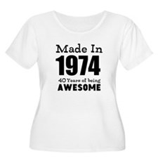 Custom Birthday Made in year and age Plus Size T-S