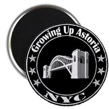 Growing Up Astoria Stamp Circle Magnets