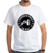 Growing Up Astoria Stamp Circle T-Shirt (white)