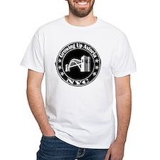 Growing Up Astoria Stamp Circle T-Shirt (white)