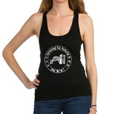 Growing Up Astoria Stamp Circle Racerback Tank Top