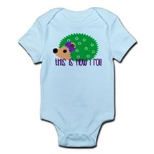 Love Hedgehogs How I Roll Body Suit