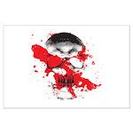 Blood Skull Large Poster