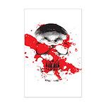 Blood Skull Mini Poster Print
