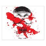 Blood Skull Small Poster