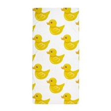 Yellow and White Rubber Duck, Ducky Beach Towel