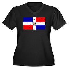 Dominican republic flag Women's Plus Size V-Neck D