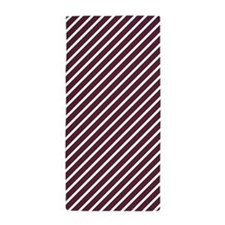 Maroon, Burgundy and White Diagonal Stripes Beach