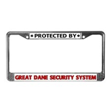 Great Dane Security License Plate Frame