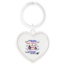TEEN ZONE Heart Keychain