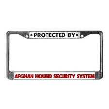 Afghan Hound Security License Plate Frame