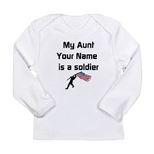 My Aunt Is A Soldier (Custom) Long Sleeve T-Shirt