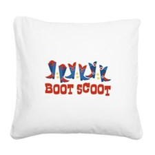 Boot Scoot Square Canvas Pillow