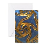 Faberge's Jewels - Blue Greeting Cards (Pk of 10)