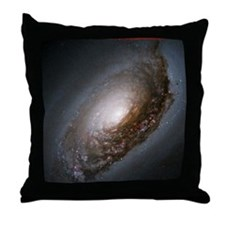 Black Eye Galaxy Throw Pillow