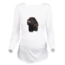 Bull Bison Long Sleeve Maternity T-Shirt