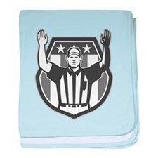 American Football Official Referee Grayscale baby