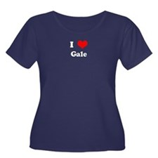 I Love Gale Women's Plus Size Scoop Neck Dark T-Sh