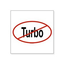 "Cute Turbo Square Sticker 3"" x 3"""