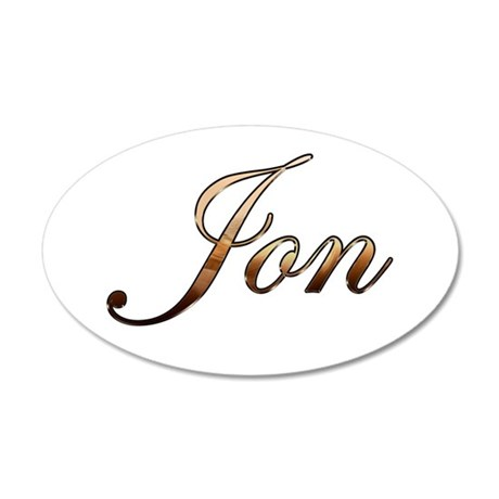 Jon 35x21 Oval Wall Decal
